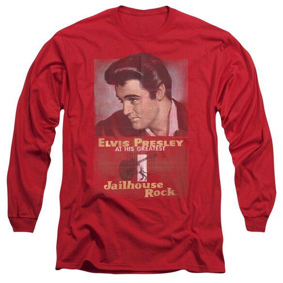 Elvis Presley Jailhouse Rock Poster Long Sleeve Adult T-Shirt