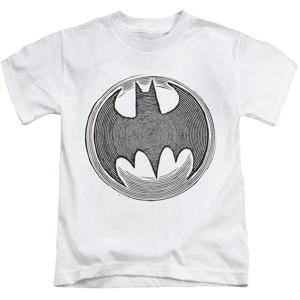 Batman Knight Knockout Short Sleeve Juvenile White Md T-Shirt