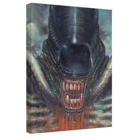 Alien Bloody Mouth Canvas Wall Art With Back Board