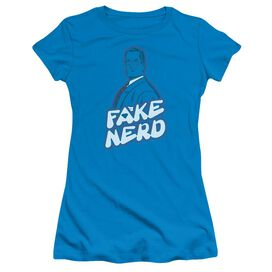 SUPERMAN FAKE NERD - S/S JUNIOR SHEER T-Shirt