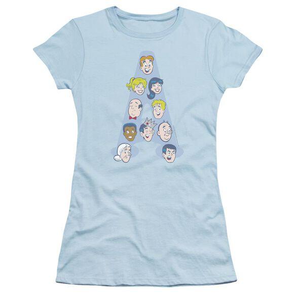 Archie Comics Character Heads Short Sleeve Junior Sheer Light T-Shirt