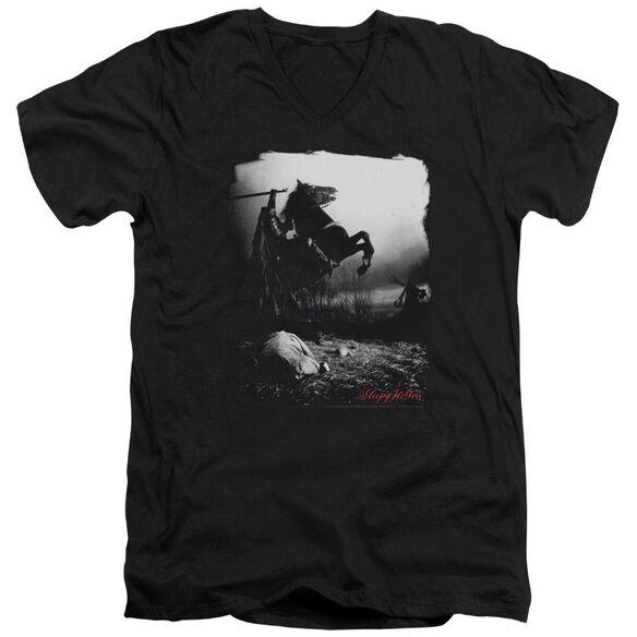 Sleepy Hollow Foggy Night Short Sleeve Adult V Neck T-Shirt