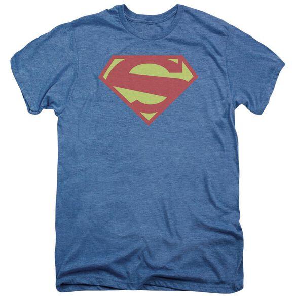 Superman 52 Solid Royal Distress Short Sleeve Adult Premium Tee Deep Sea T-Shirt