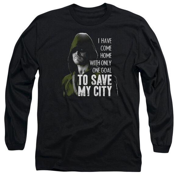 Arrow Save My City Long Sleeve Adult T-Shirt