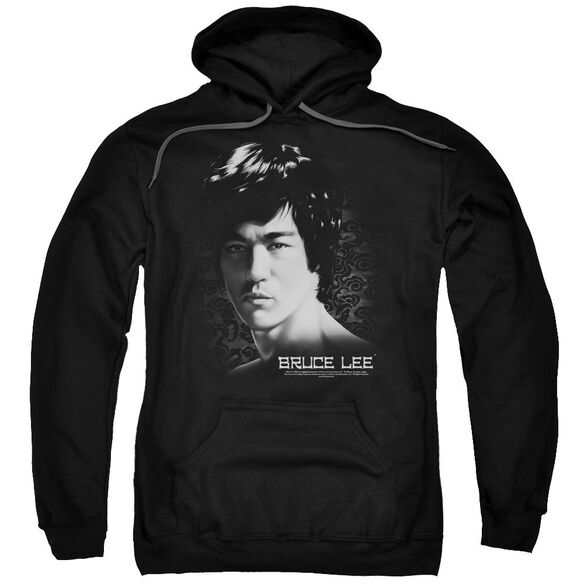 Bruce Lee In Your Face Adult Pull Over Hoodie