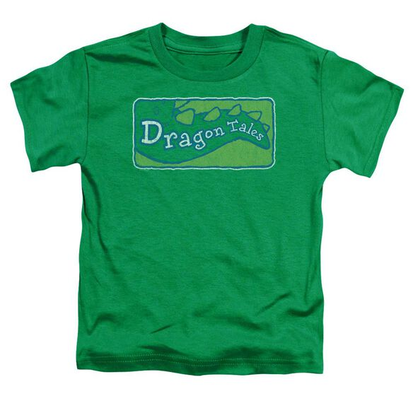 Dragon Tales Logo Distressed Short Sleeve Toddler Tee Kelly Green T-Shirt