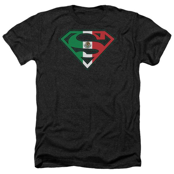 Superman Mexican Flag Shield Adult Heather