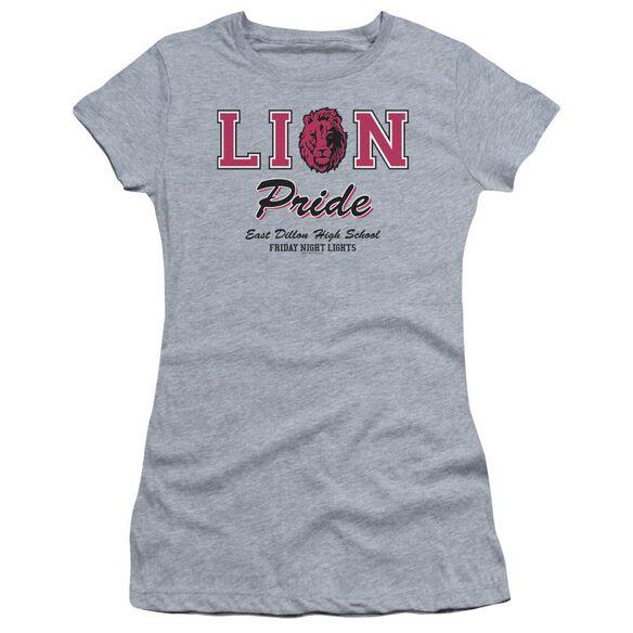 Friday Night Lights Lions Pride Short Sleeve Junior Sheer Athletic T-Shirt