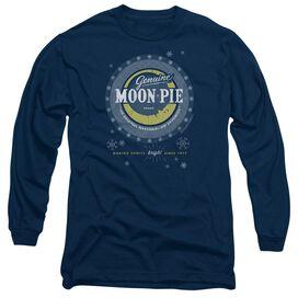 Moon Pie Snowing Moon Pies Long Sleeve Adult T-Shirt