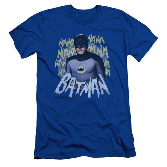 Batman Classic Tv Theme Song Short Sleeve Adult Royal T-Shirt