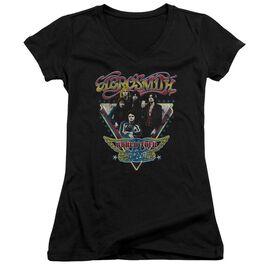 Aerosmith Triangle Stars Junior V Neck T-Shirt