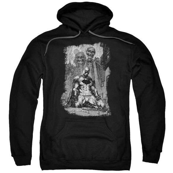 Batman Sketchy Shadows Adult Pull Over Hoodie