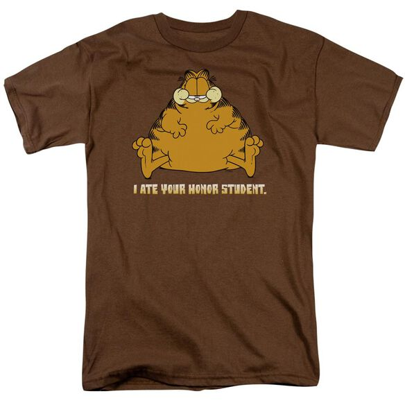Garfield I Ate Your Honor Student Short Sleeve Adult Coffee T-Shirt