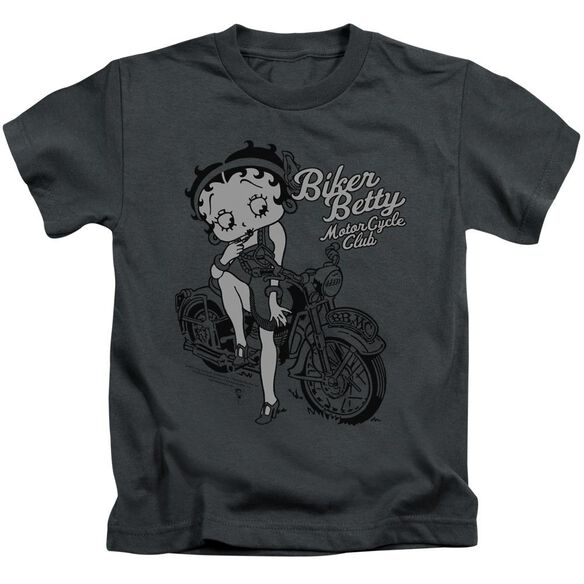 Betty Boop Bbmc Short Sleeve Juvenile Charcoal T-Shirt