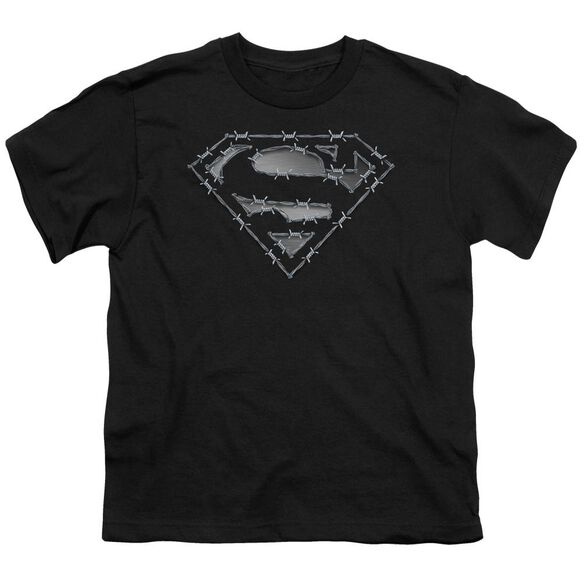 Superman Barbed Wire Short Sleeve Youth T-Shirt