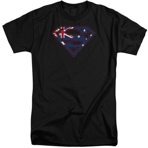 Superman Australian Shield Short Sleeve Adult Tall T-Shirt