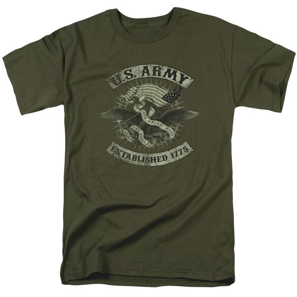 Army Union Eagle Short Sleeve Adult Military Green T-Shirt