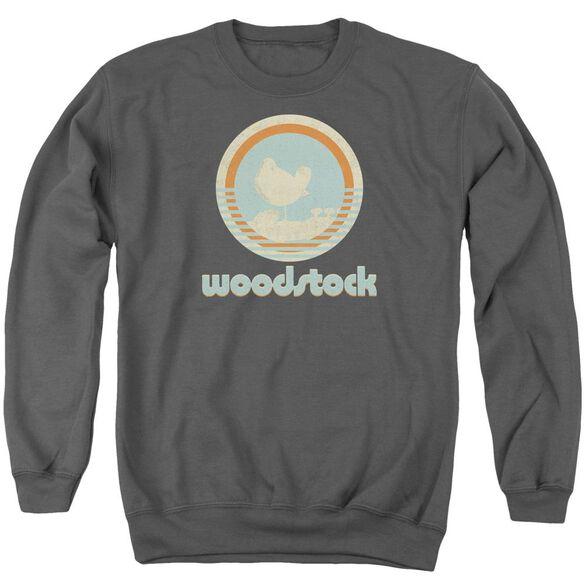 Woodstock Bird Circle Adult Crewneck Sweatshirt