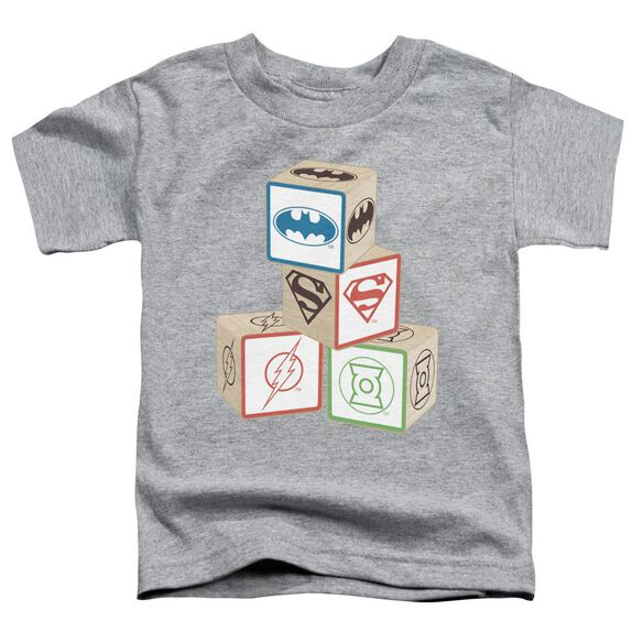 Jla Baby Block Short Sleeve Toddler Tee Athletic Heather T-Shirt