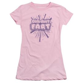 Farts Candy Girls Don't Fart Short Sleeve Junior Sheer T-Shirt