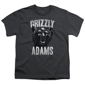 Grizzly Adams Retro Bear Short Sleeve Youth T-Shirt