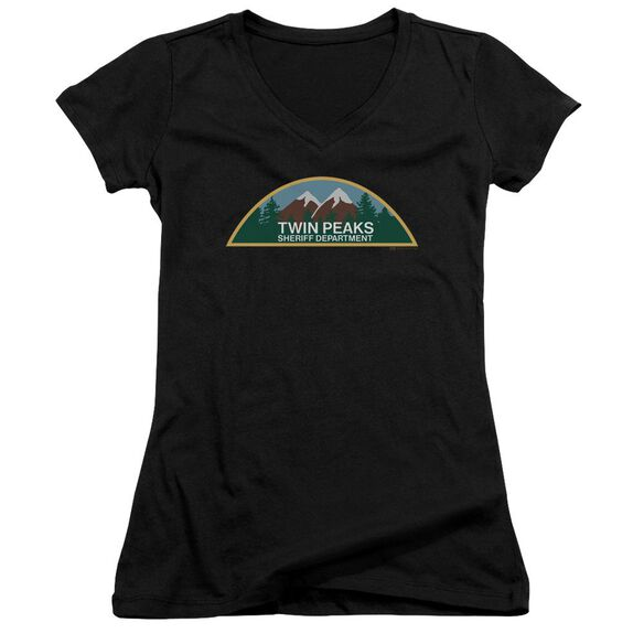 Twin Peaks Sheriff Department Junior V Neck T-Shirt