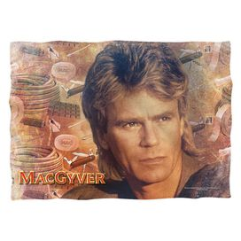 Macgyver Tools Of The Trade (Front Back Print) Pillow Case White