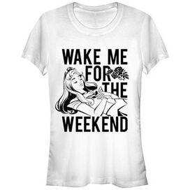 Sleeping Beauty Wake Me Weekend Juniors T-Shirt