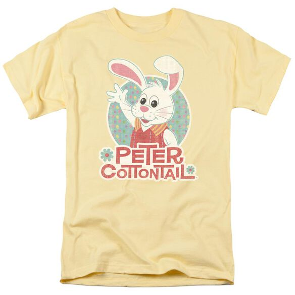 Here Comes Peter Cottontail Peter Wave Short Sleeve Adult Banana T-Shirt