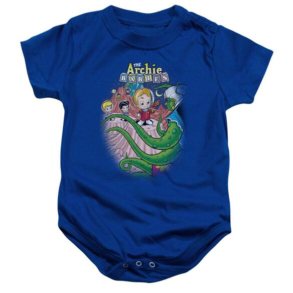 Archie Babies Babies In Space Infant Snapsuit Royal Blue Lg
