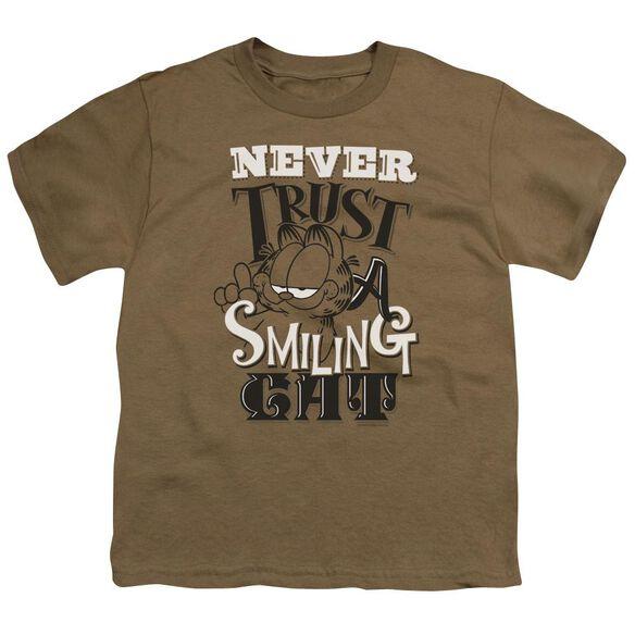 Garfield Never Trust Short Sleeve Youth Safari T-Shirt