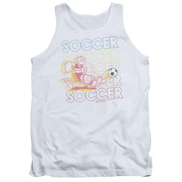 Popeye Soccer Adult Tank