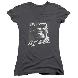 Ray Charles Signature Glasses Junior V Neck T-Shirt
