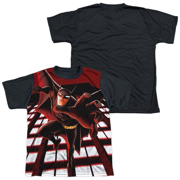 Beware The Batman City Protector Short Sleeve Youth Front Black Back T-Shirt