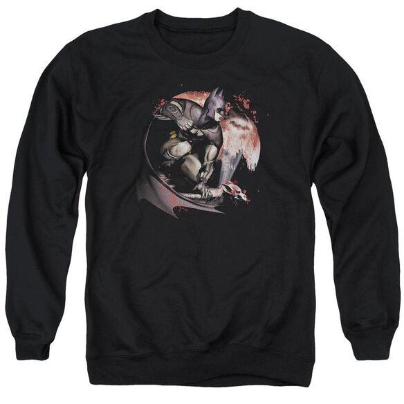 Arkham City Blood Moon Adult Crewneck Sweatshirt