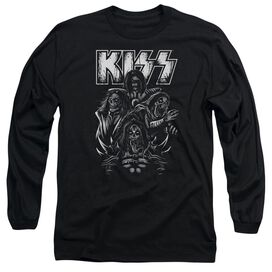 Kiss Skull Long Sleeve Adult T-Shirt