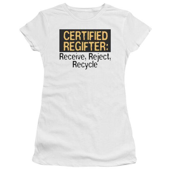 Certified Regifter Hbo Short Sleeve Junior Sheer T-Shirt
