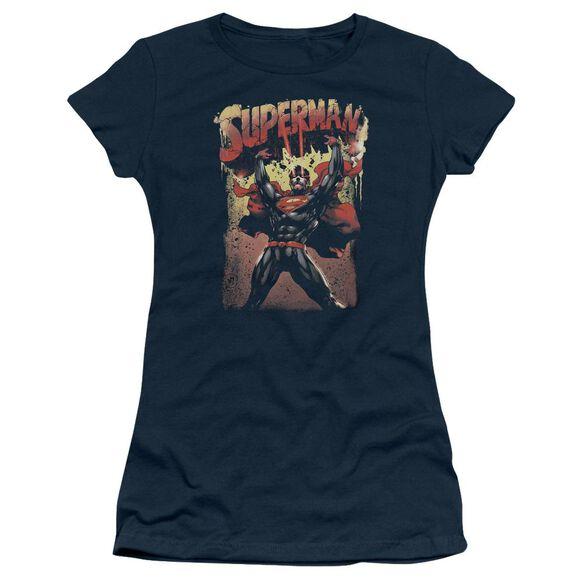 Superman Lift Up Short Sleeve Junior Sheer T-Shirt