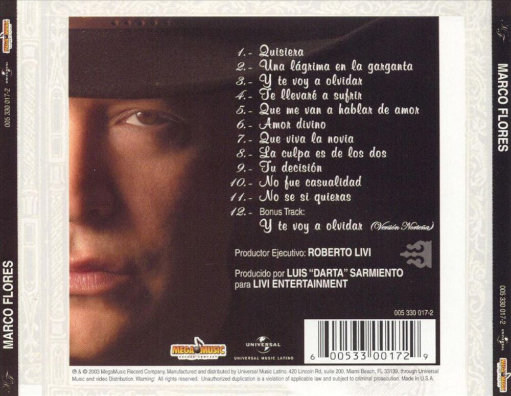 Marco Flores by Marco Flores - Used on CD | FYE