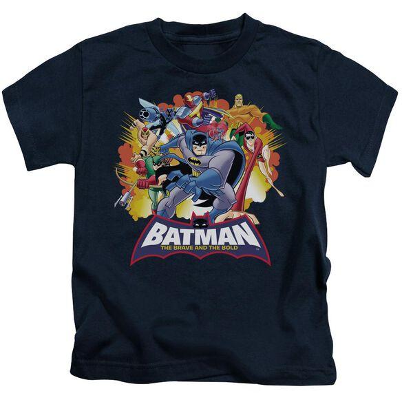 Batman Bb Explosive Heroes Short Sleeve Juvenile Navy T-Shirt