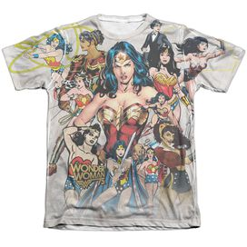Wonder Woman 75 Th Collage Adult Poly Cotton Short Sleeve Tee T-Shirt