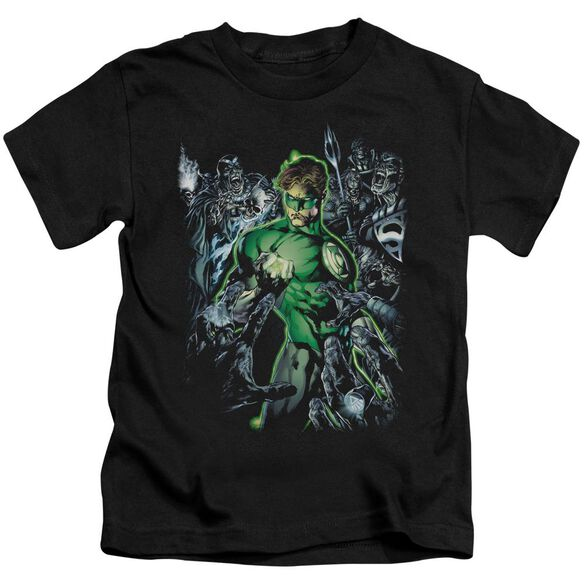 Green Lantern Surrounded By Death Short Sleeve Juvenile Black T-Shirt