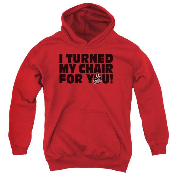 Voice Turned My Chair Youth Pull Over Hoodie