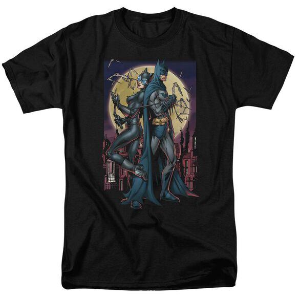 BATMAN PAINT THE TOWN RED - S/S ADULT 18/1 - BLACK T-Shirt