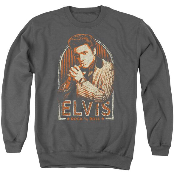 Elvis Stripes Adult Crewneck Sweatshirt