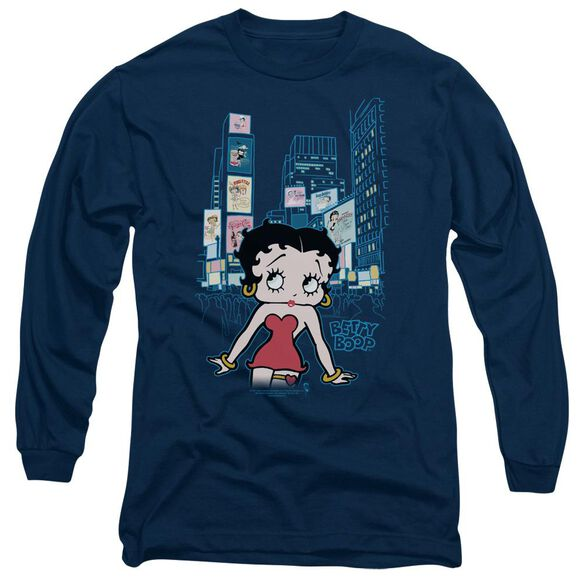 Betty Boop Square Long Sleeve Adult T-Shirt