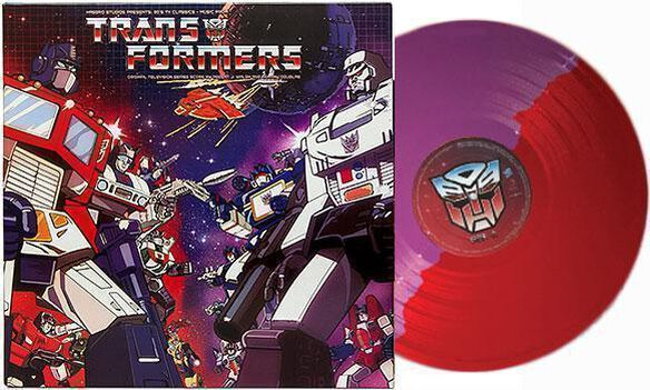 Robert J. Walsh & Johnny Douglas - Transformers Music from the '80s TV Series [Exclusive Autobot & Decepticon Split Colored Vinyl]