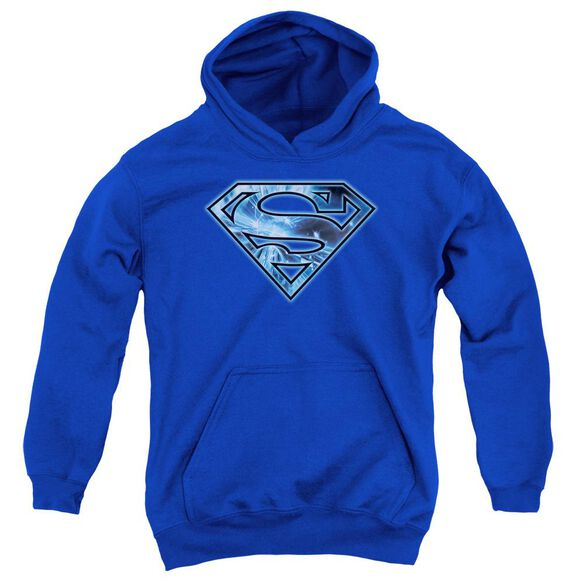 Superman On Ice Shield Youth Pull Over Hoodie
