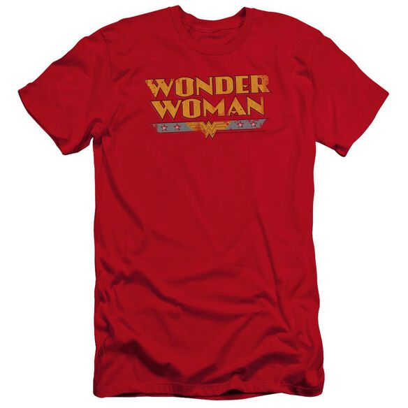 Dc Wonder Woman Logo-premuim Canvas Adult Slim