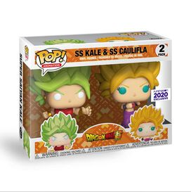 Funko Pop! Dragonball Super Saiyan - Kale & Caulifla 2 pack - Funimation Exclusive